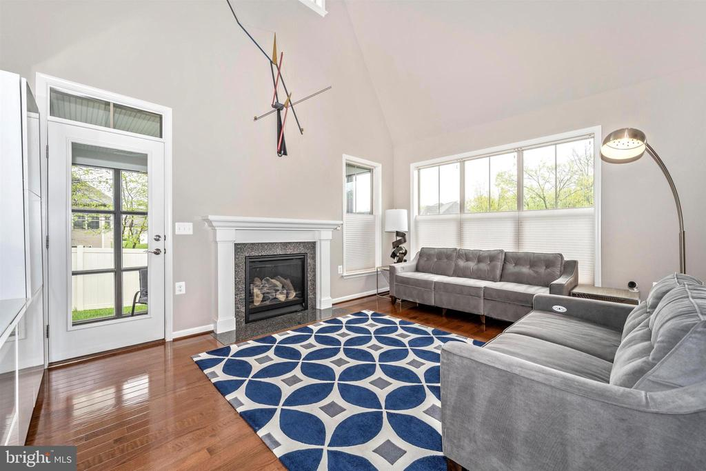 Great Room With Gas Fireplace - Door to Porch - 3026 OLD ANNAPOLIS TRL, FREDERICK