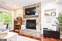 Rec Room with Gas Fireplace - 10920 RAVENWOOD DR, MANASSAS