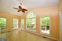 Sunroom with gorgeous views and windows - 79 MILLBROOK RD, STAFFORD