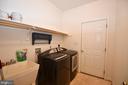 Laundry off kitchen - garage - 79 MILLBROOK RD, STAFFORD