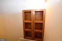 Built in shelves on steps to basement - 79 MILLBROOK RD, STAFFORD