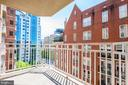 Balcony view - 7500 WOODMONT AVE #S902, BETHESDA