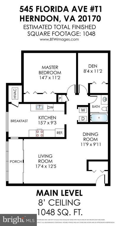 Floor Plan - 545 FLORIDA AVE #T1, HERNDON