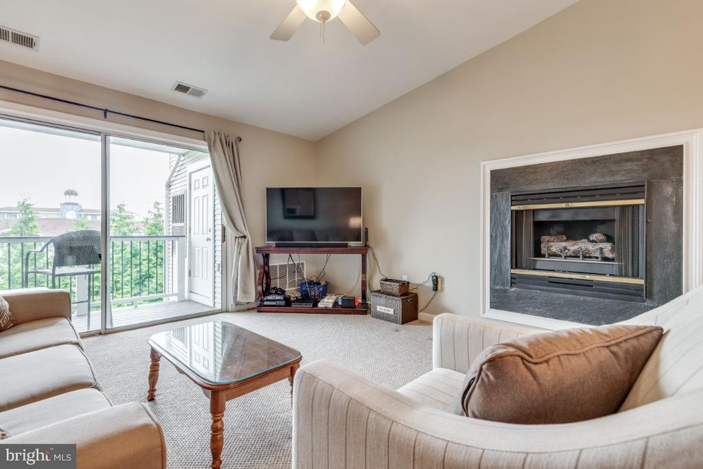 Gas Fireplace in the Family Room - 20578 SNOWSHOE SQ #301, ASHBURN