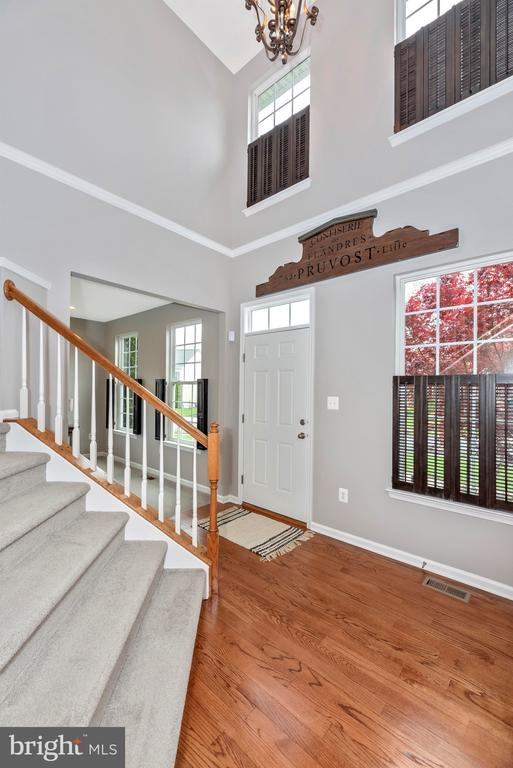 Two story foyer welcomes you.... - 9823 NOTTING HILL DR, FREDERICK