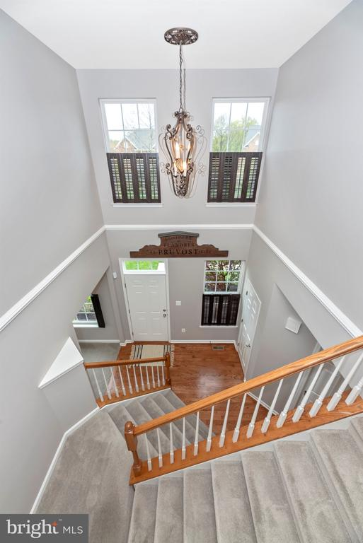 Two story foyer -WOW! What a view - 9823 NOTTING HILL DR, FREDERICK