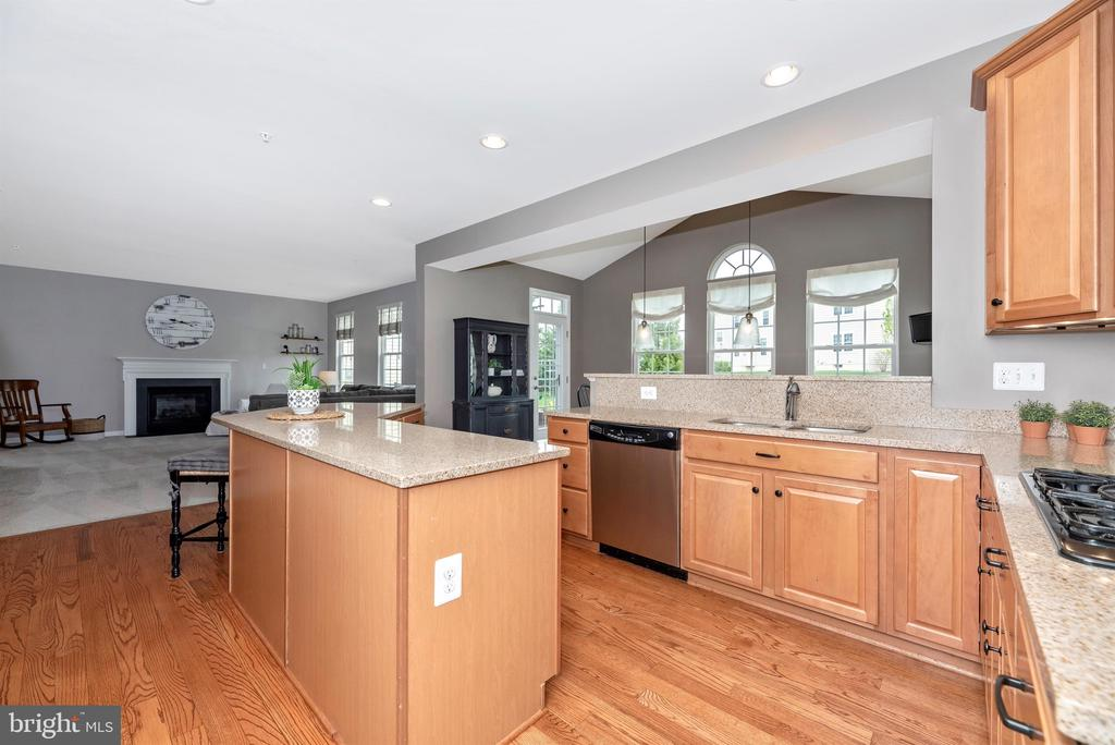 Large eat in kitchen - 9823 NOTTING HILL DR, FREDERICK