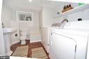 Full-size Laundry Room and Half Bath - 440 BUCHANAN ST NW, WASHINGTON
