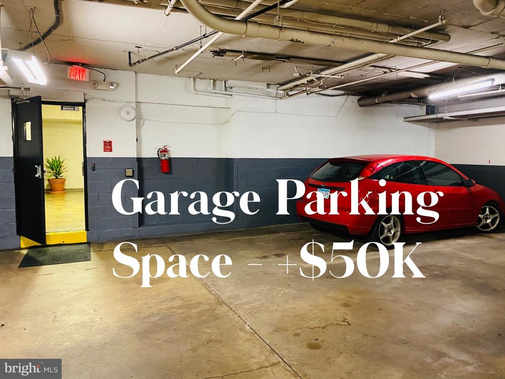 Separately deeded garage space available for $50k. - 2829 NW CONNECTICUT AVE NW #505, WASHINGTON