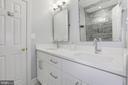 Newly renovated bathroom - 5900 RYLAND DR, BETHESDA