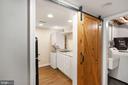 Sliding Barn Door to Lower Level Service Area - 3030 N QUINCY ST, ARLINGTON