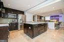 Gourmet kitchen with grand marble island - 20284 BROAD RUN DR, STERLING