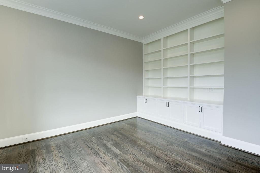 Study with Built-in Bookcases and Cabinets - 3201 WINNETT RD, CHEVY CHASE