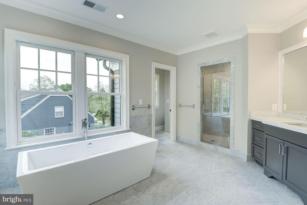 Master Bathroom with Soaking Tub and Steam Shower - 3201 WINNETT RD, CHEVY CHASE