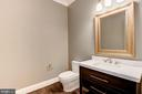 First Floor Powder Room - 3201 WINNETT RD, CHEVY CHASE