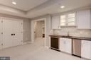 Recreation Room Wet Bar - 3201 WINNETT RD, CHEVY CHASE