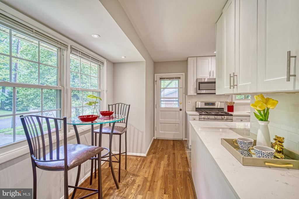Renovated~kitchen! Door to screened porch. - 2612 HILLSMAN ST, FALLS CHURCH