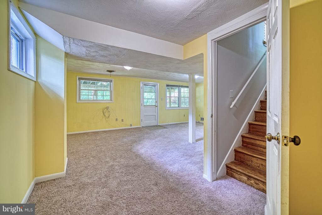 Finished, walk-out lower level - 2612 HILLSMAN ST, FALLS CHURCH