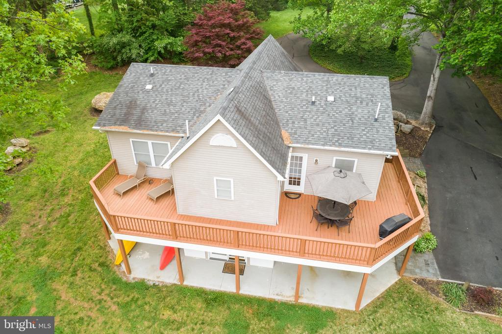 Aerial view of rear deck - 6211 BRYN LN, MINERAL