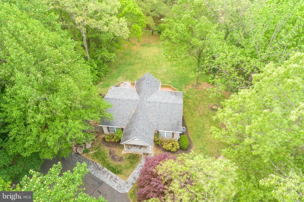 Aerial view above the home - 6211 BRYN LN, MINERAL