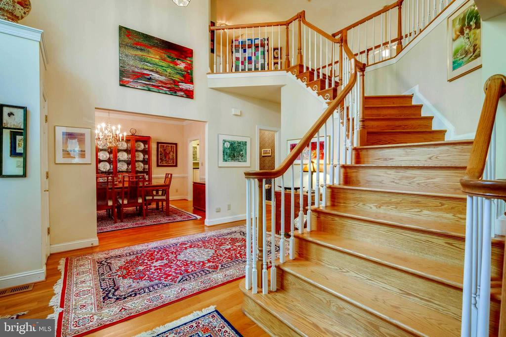 Staircase to Upper Level - Dining Room to left! - 12210 GLADE DR, FREDERICKSBURG