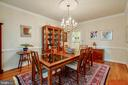 Dining Room - with Crown Molding! - 12210 GLADE DR, FREDERICKSBURG