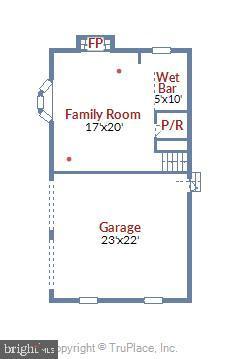 Lower Level Floor Plan - 1058 ULMSTEAD CIR, ARNOLD