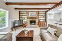 Family Room with Wood Burning Fireplace - 1058 ULMSTEAD CIR, ARNOLD