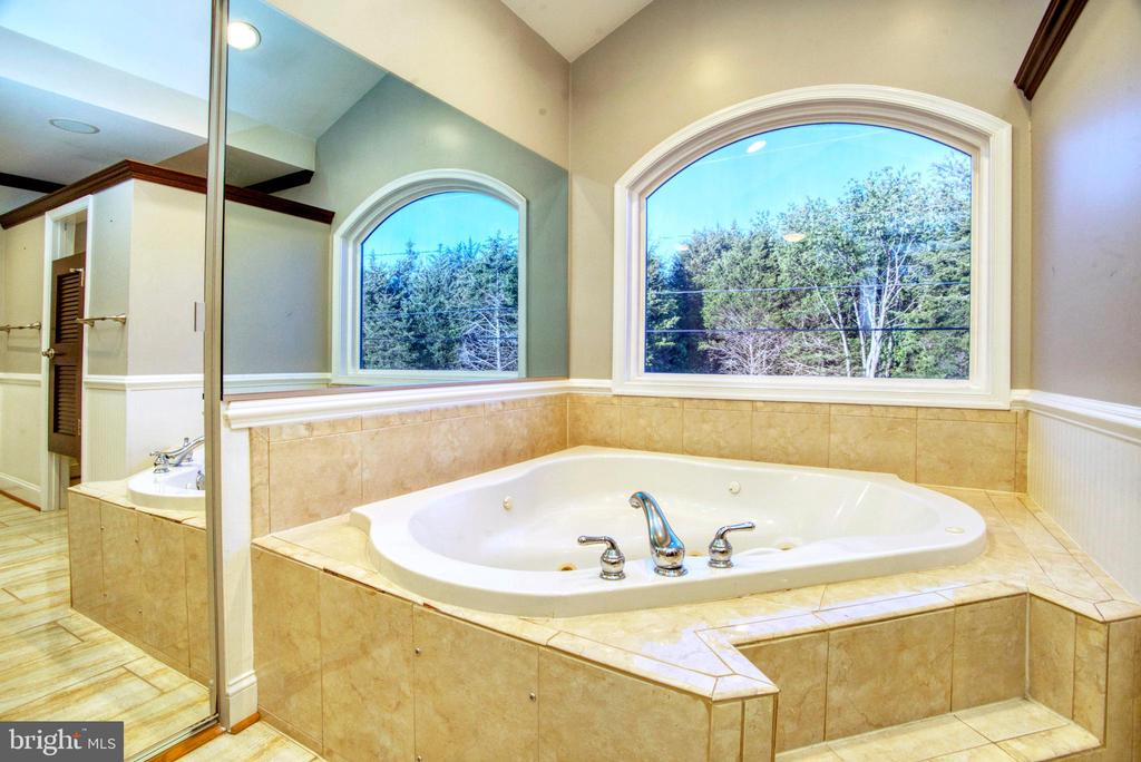 Mstr Bath w/TV built into mirror - 12427 POTOMAC VIEW DR, NEWBURG