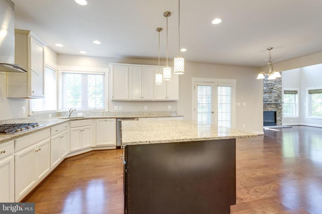 Kitchen w/ Marble Countertop Island - 2050 ARCH DR, FALLS CHURCH