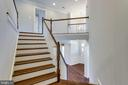 Finished Hardwood Floor Staircase - 2050 ARCH DR, FALLS CHURCH