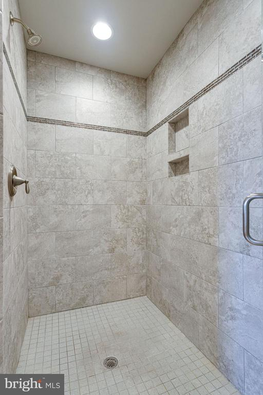 Walk in Sealed Stone Tile Shower - 2050 ARCH DR, FALLS CHURCH