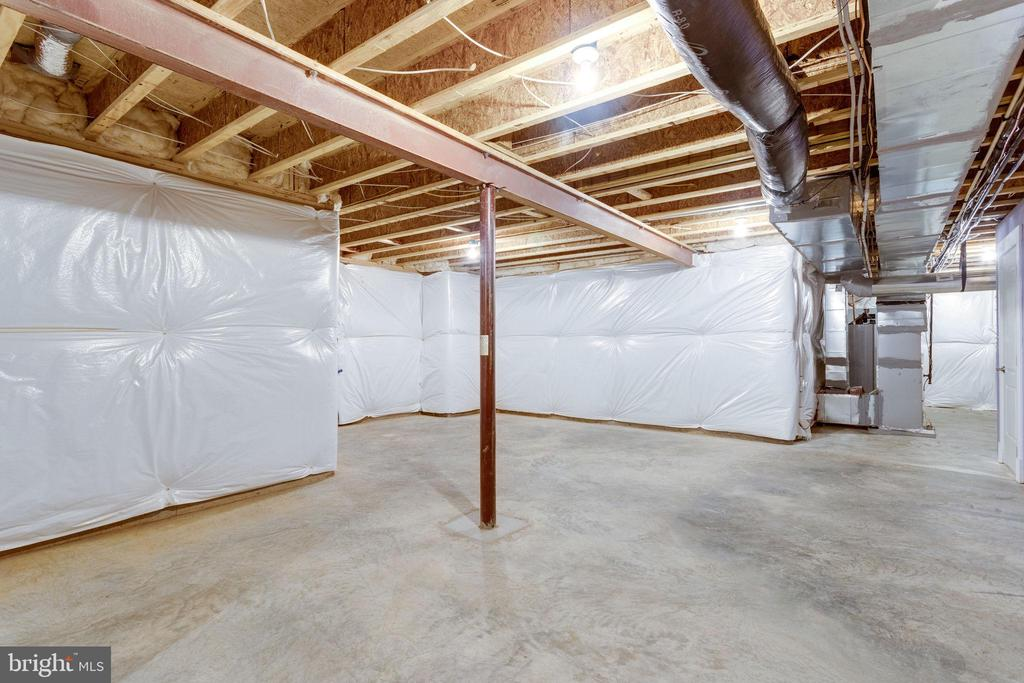 Unfinished Basement Section/ Storage Room - 2050 ARCH DR, FALLS CHURCH