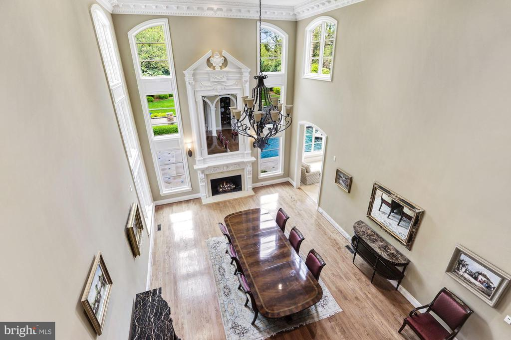 View From Upper Level Landing - 8913 GALLANT GREEN DR, MCLEAN