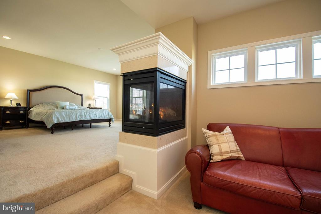 Master bedroom sitting area with gas fireplace - 42422 CHAMOIS CT, STERLING