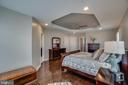 Master suite with tray ceiling - 20668 DUXBURY TER, ASHBURN