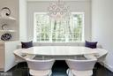Casual dining with custom built-in banquette - 3717 27TH ST N, ARLINGTON