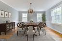 Dining Room with Virtual Staging Example - 5135 34TH ST NW, WASHINGTON