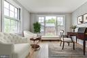 Sunroom with Virtual Staging Example - 5135 34TH ST NW, WASHINGTON