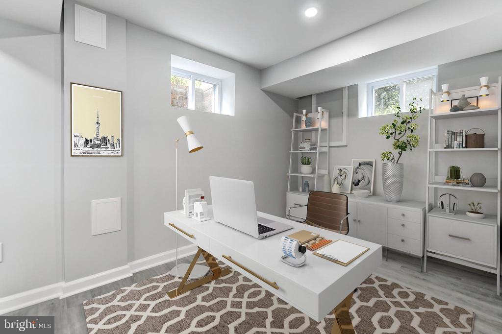Hobby Room with Virtual Staging Example - 5135 34TH ST NW, WASHINGTON