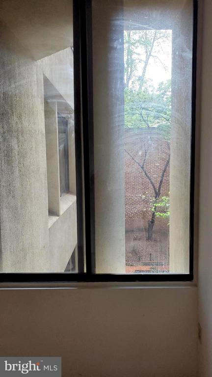 Window looking out over court yard in Bedroom #2 - 1615 Q ST NW #103, WASHINGTON