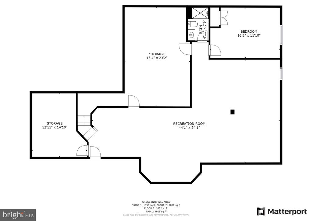 Lower Level Floor Plan - 3026 OLD ANNAPOLIS TRL, FREDERICK