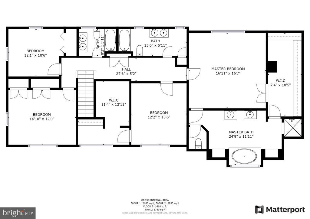 Upper Level Floorplan - 7316 LACKAWANNA DR, SPRINGFIELD