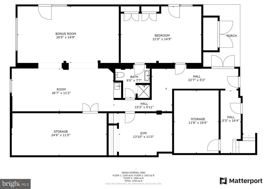 Basement Floorplan - 7316 LACKAWANNA DR, SPRINGFIELD