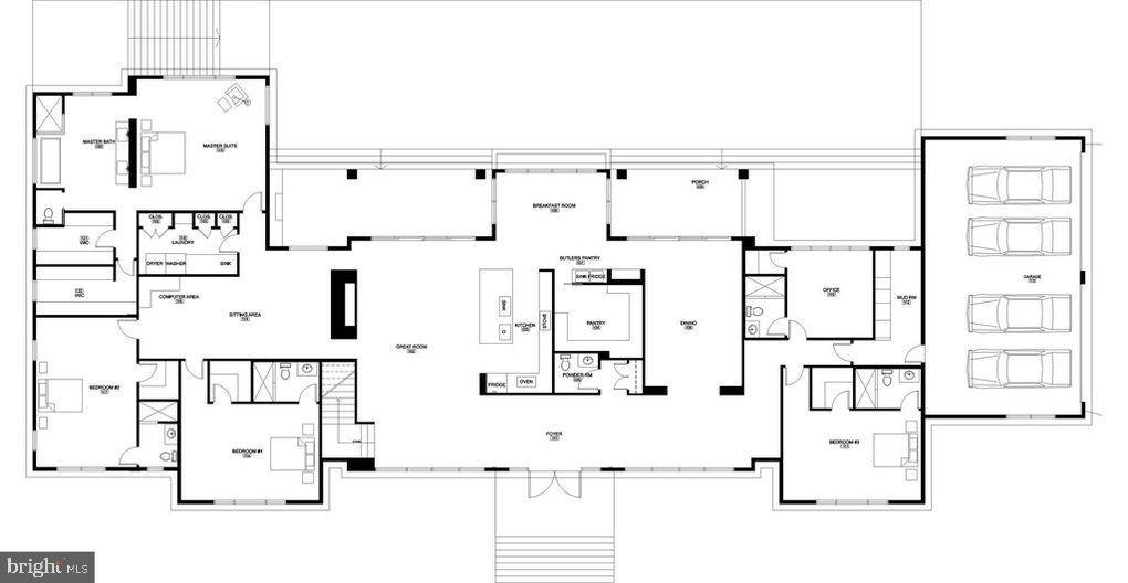 Alternative  Floor Plan :  Main Floor 5900 Sqft - 1100 LEIGH MILL RD, GREAT FALLS