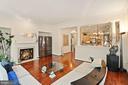 Relaxing Family Room w/Brazilian Cherry Hardwood - 2976 TROUSSEAU LN, OAKTON