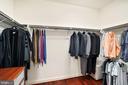 Spacious walk in closet for his - 2976 TROUSSEAU LN, OAKTON