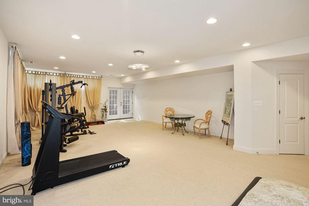 French doors for easy outdoor access to back yard - 2976 TROUSSEAU LN, OAKTON