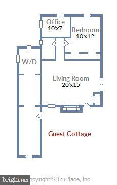 Floor plan for Home Office or guest cottage. - 4921 E CHALK POINT RD, WEST RIVER