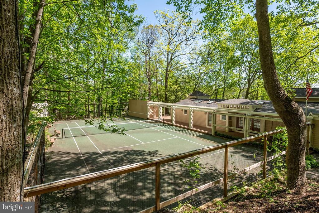 View of tennis court from parking pad - 104 FOGLE DR, ANNAPOLIS